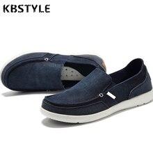 Kbstyle 2017 zapatos de moda casual hombres zapatos de lona todas correspondan moda negro slip-on zapatos de fondo plano de mezclilla de la vendimia para los hombres