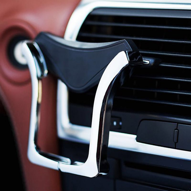 Car Stable Design Bracket Universal Stability Anti-Slip Gravity Car Phone Holder U-Type Car Outlet Mobile Phone Holder & Stands