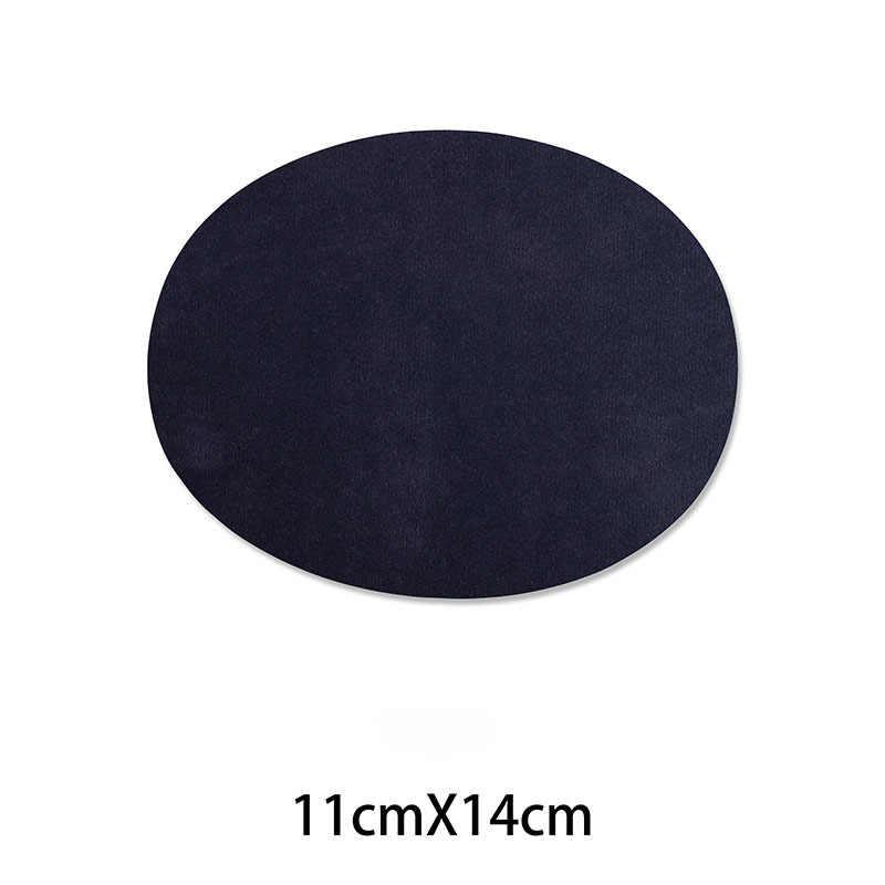 פשוט סגלגל רקמת תיקון חום העברות ברזל על לתפור על תיקון בגדי מרפק הברך תיקוני מדבקות דקורטיבי אפליקציות 47227