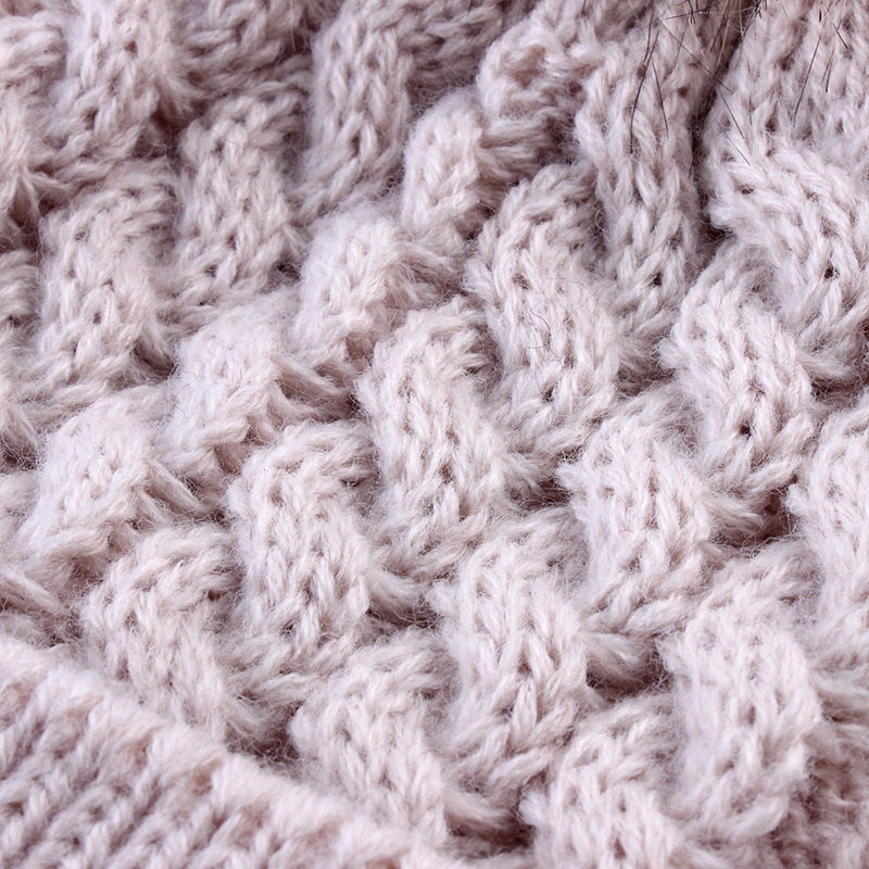 d5a1c5c6956 2 Pcs Mother Kids Child Baby Warm Winter Knit Beanie Fur Pom Hat Crochet  Ski Cap Cute-in Hats   Caps from Mother   Kids on Aliexpress.com