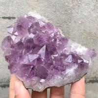 Natural Amethyst Cluster Mineral Quartz Crystal Druse Specimen Healing