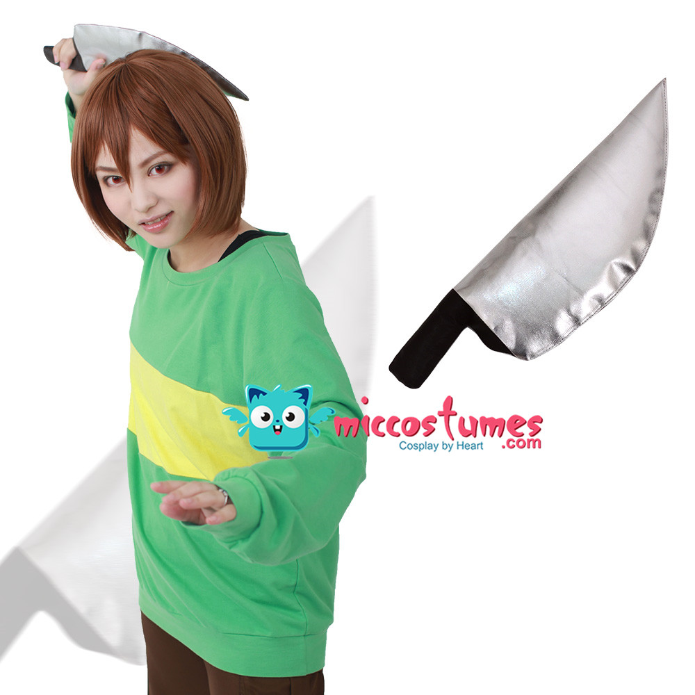 Undertale Protagonis Chara Cosplay Costume (coltello incluso)