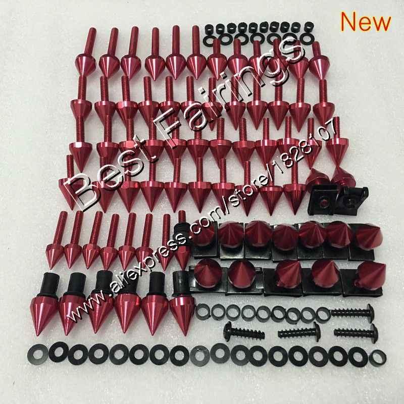 Fairing bolts full screw kit For KAWASAKI NINJA ZX6R 94 95 96 97 ZX-6R 6 R ZX 6R 1994 1995 1996 1997 Complete Body screws Nuts