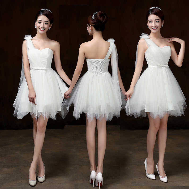 ... Sweet Memory Double shoulders White Bridesmaid dresses Spaghetti Straps  crepe wedding party Bridesmaid dress SW0013 ... b075efc0a4cc