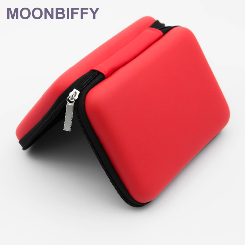 Soft <font><b>Cases</b></font> Square EVA <font><b>Case</b></font> <font><b>Headset</b></font> <font><b>Bluetooth</b></font> Earphone Cable Storage Box for Cellphone USB Chargers Cables Headphone Mp3/4 image