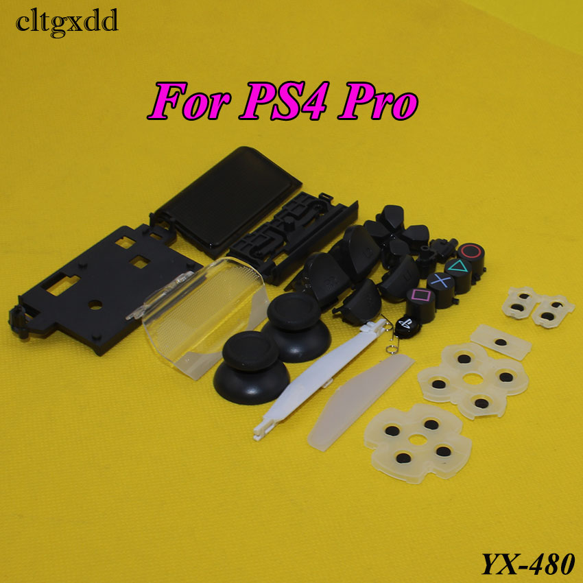 cltgxdd For PS4 Pro Controller R1 L1 R2 L2 Buttons Direction Key ABXY Buttons JDS-040 Conductive Rubber and Analog Stick Caps