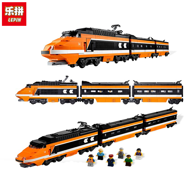 Lepin 21007 Technic Series Horizon Express Train LegoINGly 10233 Educational Building Bricks Blocks Gift Toys for Children lepin 42010 590pcs creative series brick box legoingly sets building nano blocks diy bricks educational toys for kids gift