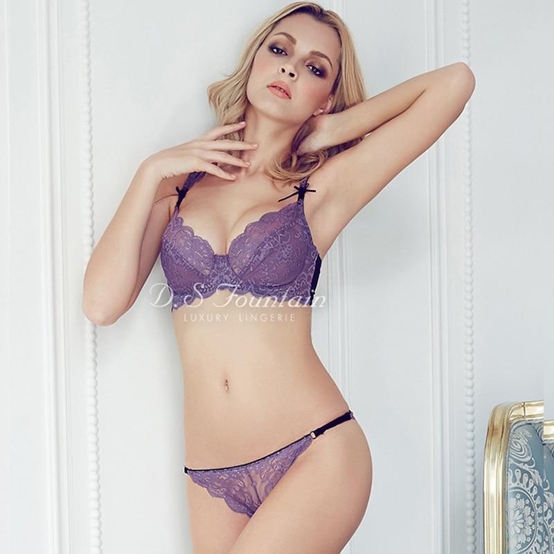 Sexy Women Large Size Underwear Bras Sets Ultrathin Lace ...