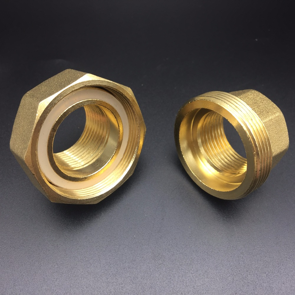 DN50 G 2 BSP Female Three Piece Union Set Brass Pipe Coupling Joiner Adapter Fitting