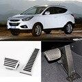Brand New 2pcs Aluminium Non Slip Foot Rest Fuel Gas Brake Pedal Cover For Hyundai IX35 AT 2010-2016