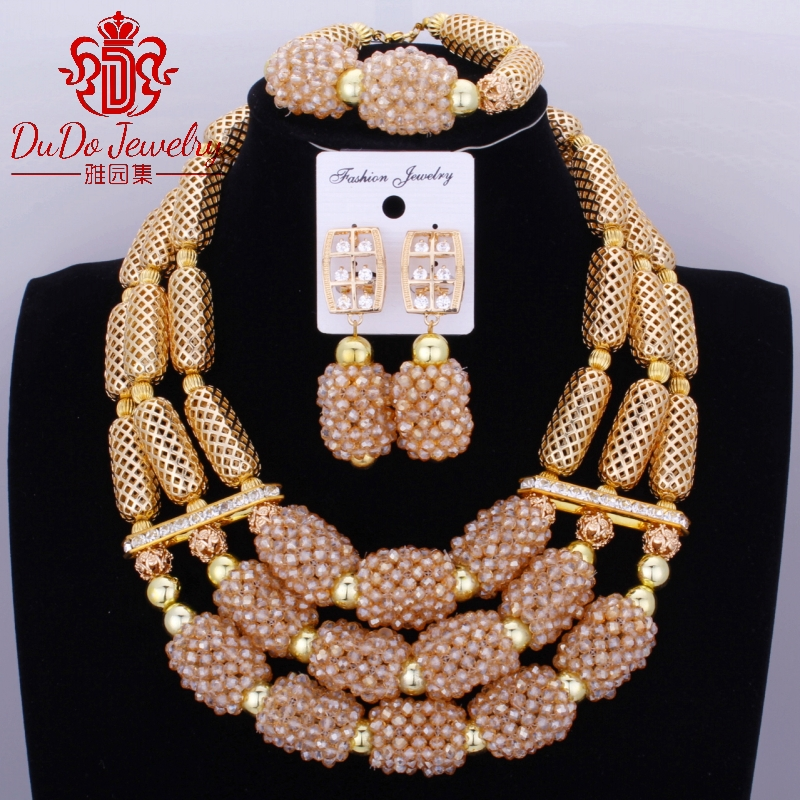 2017 новые коралловые ювелирные наборы нигерийский Дубай оранжевое ожерелье наборы из бисера африканские Свадебные Ювелирные наборы бренд б... - 5