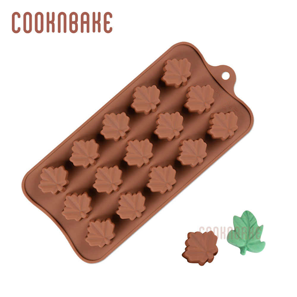 Cooknbake Silicone Chocolade Schimmel Bladvorm Cake Decorating Pastry Bakvorm Candy Gummy Fondant Mould Ice Jelly Biscuit Tool