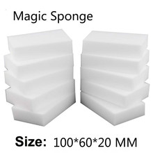 купить 10 Pcs/lot10*6*2cm Melamine Sponge Magic Sponge Eraser Cleaner for Kitchen Office Bathroom shoes household  applian Nano  sponge дешево