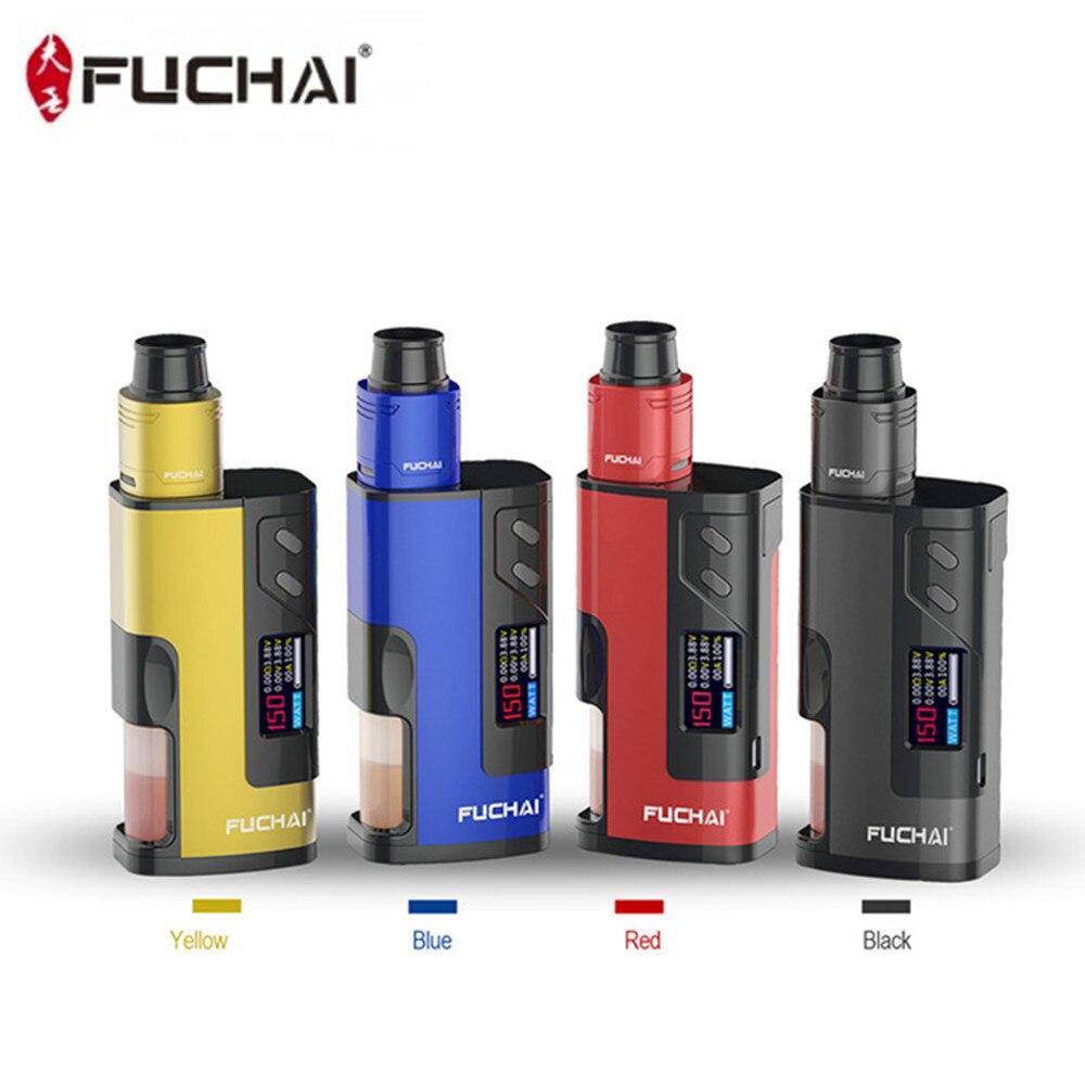 Fuchai 213 Squonk Kit 5 ML Capacité 150 W Squonk Boîte Mod E Cigarette Alimenté par 21700 18650 Batterie VS Cuboid 150 Vaporisateur Kit