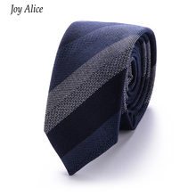 fashion cotton 6 cm Men's Colourful Tie Knit Knitted Ties Embroidered Necktie Narrow Slim Skinny Woven Cravate Narrow Neckties fashion slim tie narrow necktie black