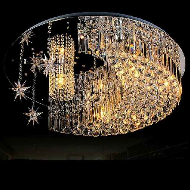 Modern Fashion Crystal Lamp Living Room Lamp Bedroom Restaurant Lighting  Stars Moon Ceiling Lamps Led Lighting