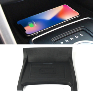 Image 1 - 10W car QI wireless charger for Land Rover Discovery Sport 2015 2016 2017 2018 2019 charging plate phone holder accessories