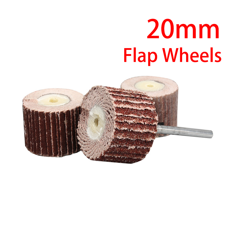 1Pcs 20mm Sanding Flap Disc Grinding Wheels Brush Sand Dremel Accessories For Abrasive Grinder Rotary Tools