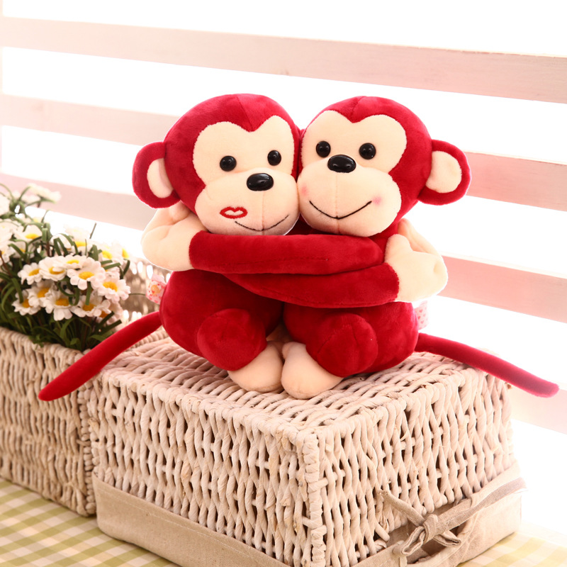 Hugging_Monkey_Toy_Red