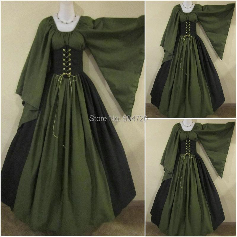 a6616b022 Custom-madeR-286 19 DEL SIGLO 1860 s Victorian Lolita Guerra Civil de la  guerra civil vestidos de Halloween todo el tamaño
