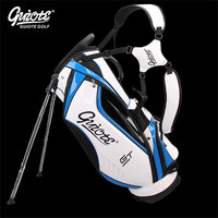 [4 Colors] GUIOTE GT Global Tour Golf Stand Bag PU Leather Golf Carry Bag With Rainhood 8 way 9 Size For Men Women