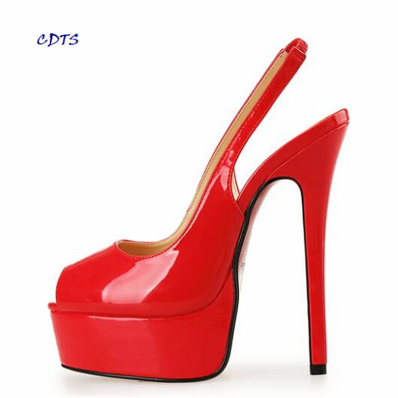 Best 2016 New Snow Knee High Heels Winter Leather Shoes Women Boots Plus Size 5 13 Stock