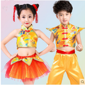 Children's costumes Kung Fu performing service Traditional dragon costume drummer drumming festival of dance Yangko clothing