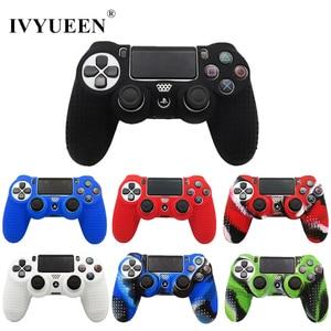 Image 1 - Ivyueen新バージョンシリコーンケースデュアル4プレイステーション4 PS4プロスリムコンソールとコントローラグリップキャップ