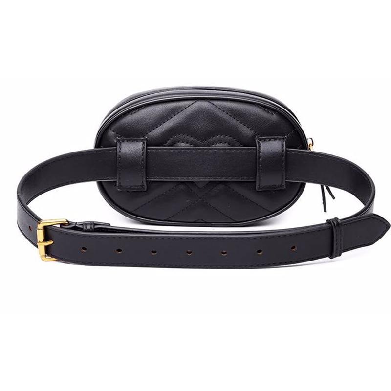 Ms Wholikes Multifunktionell Pocket Märke Lyx Läderväska Röd - Bälten väskor - Foto 4