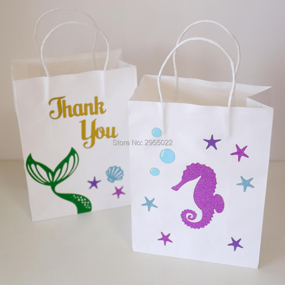 21X27X11cm Large Lraft Paper Bags with Handle. Under the Sea Party ...