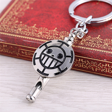Trafalgar D Law Skull Metal Keychain