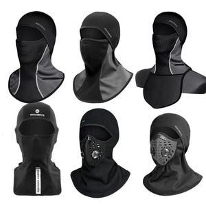 Image 2 - Rockbros Winter Thermische Fleece Ski Masker Full Face Cover Snowboard Hood Sjaals Outdoor Sport Winddicht Fietsen Hoofddeksels Balaclava