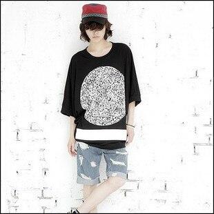 새 스타일 박쥐 슬리브 T 셔츠 남성 복고풍 유럽과 영국 스타일 느슨한 티셔츠 남성 패션 남성 T 셔츠 여름 힙합