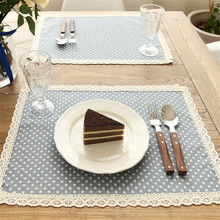 Punto del cordón de lino servilletas textiles para el hogar de alta calidad de cocina paños de cocina de tela de la boda servilletas de cena casero de la decoración suministros