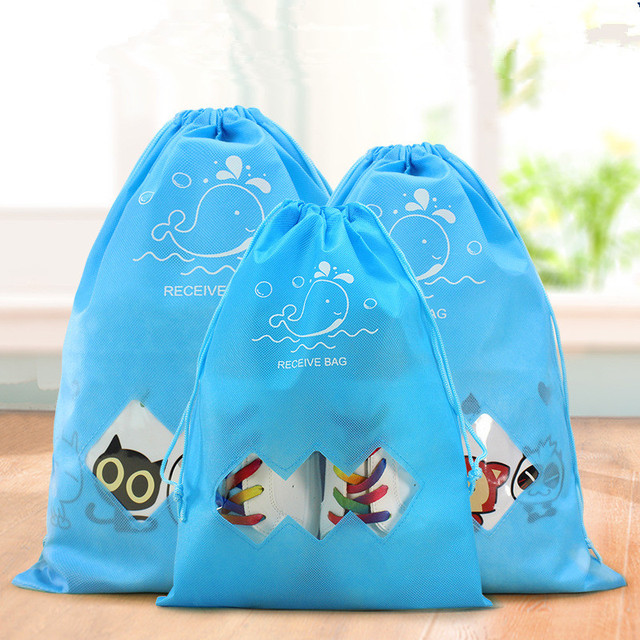 Cartoon Travel Storage  shoes Bag  Clothes Drawstring Shoes Bag Men Women Traveling bags Organizer Packing Cube Dropshipping 5
