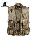Detachable Summer Waterproof Vest Casual Camouflage Waistcoat Vest for Men's Photographer Sleeveless Jackets