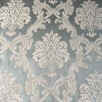 2016 Sofa Fabric Plain Dyed Damask Pale Blue Chenille Headboard Bag Garments Curtain Fabrics Width 280