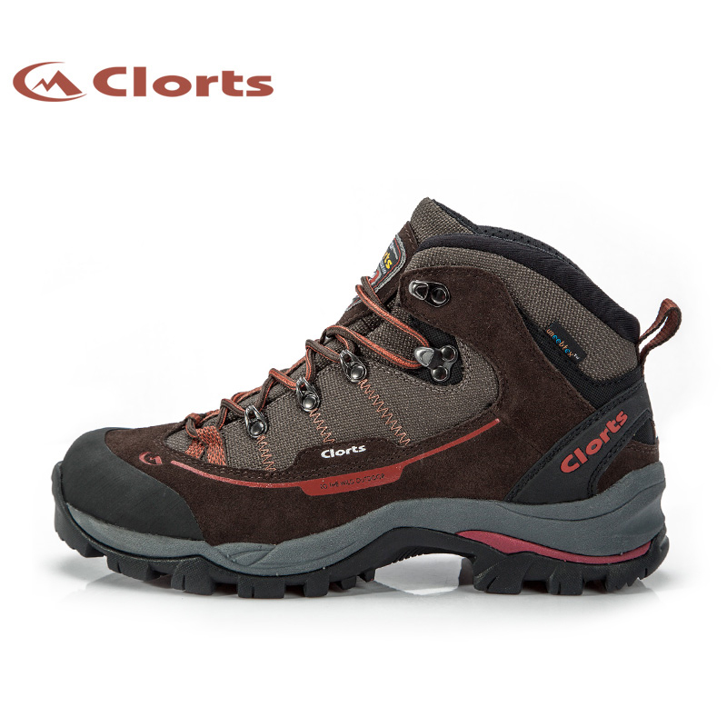 Clorts Climbing Boots For Men Waterproof Hiking Shoes Trekking Boots Suede Leather Man Mountain Boots For Outdoor HKM-303A clorts trekking shoes for men suede hiking shoes lace up mountain outdoor shoes breathable climbing shoes for men hkl 831a b e