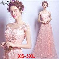 banquet dinner women lace long Dress Sparkle floor length Shiny lace up off shoulder pink princess Dresses plus size 3xl ouc1277