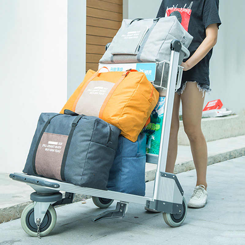 12071d2b6de0 Foldable large Travel bags Luggage Weekend Duffel big bag travel cubes  duffle For woman and man