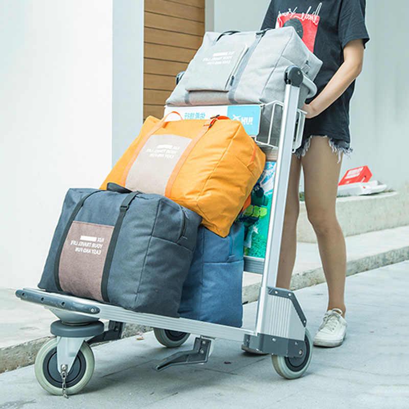Bolsa Ligera Impermeable Plegable Bolsa de Fin de Semana Vogshow Bolsa de Viaje Plegable Grande de 80 l Bolsa Deporte con Compartimento para Zapatos para Hombres y Mujeres