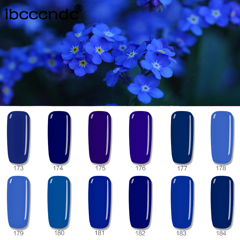 12pcs/Set 10ml Deep Blue Series Soak Off UV Nail Gel Polish Nail Gel Lacquer Varnish with Exquisite Gift Box Nail Art 12pcs lot green series uv gel nail polish led lamp gel lacquer gel polish vernis semi permanent gel varnish nail primer base top