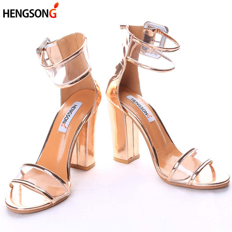 Super High Shoes  Women Pumps Sexy Clear Transparent Strap Buckle Summer Sandals High Heels Shoes Women Party Shoes AY912509 цены онлайн