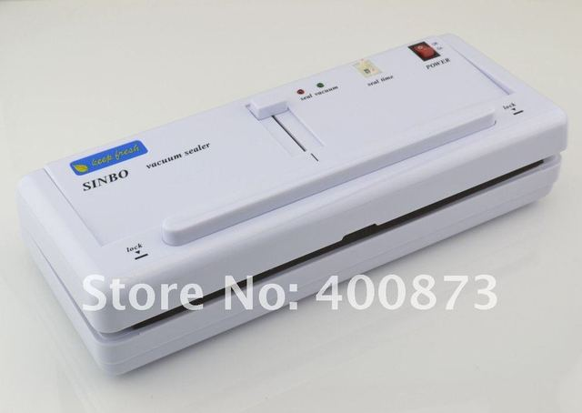NEWEST ! Vacuum food Sealer with 0.045Mpa powerful vacuum pump 4MM heat wires vacuum packing machine