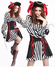 2017 New Sexy Women Pirate Costume Halloween Fancy Party Dress Carnival Perfor Mance High Quality Adult Cosplay Costumes
