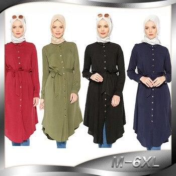 Moda alta calidad islamismo chica top casual Camisa de manga larga blusas tops para ropa para mujeres musulmanas 2013