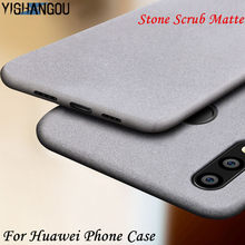 Luxury Scrub Sandstone Matte Phone Case For Huawei P20 Lite Mate 20 Pro Y5 2017 Y6 Prime Y7 2018 Y9 2019 Soft Silicon Back Cover(China)