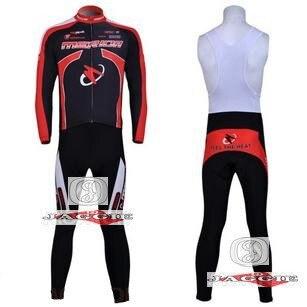 3D Silicone! MERIDA 2011 bib long sleeve cycling jerseys wear clothes bicycle/bike/riding jerseys+bib pants
