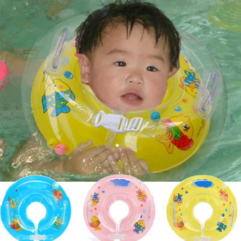 Baby Swimming Pools Accessories Baby Inflatable Ring Baby Neck Inflatable Wheels For Newborns Bathing Circle Safety Neck Float