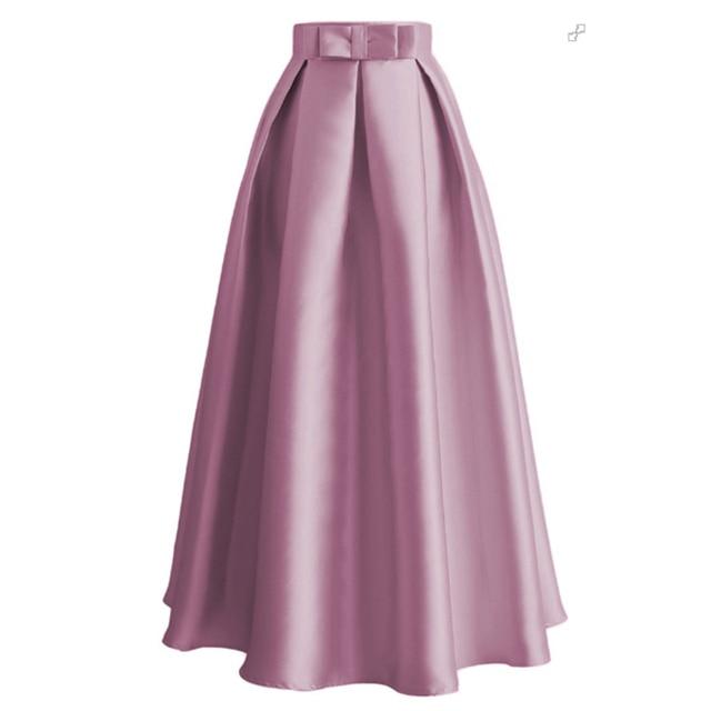 US $17.46 55% OFF|Plus Size Skirts Faldas Mujer Moda 2019 Abaya Dubai Turkish Long Pleated Maxi High Waist Skirt Women Jupe Longue Femme